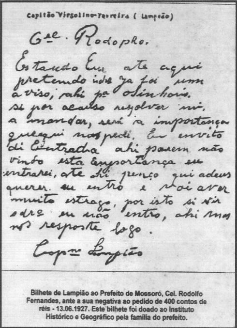 Carta de Lampião
