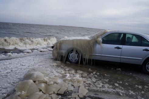 Carro com gelo